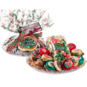 "CHRISTMAS  POPCORN & ""COOKIE TALK"" MESSAGE PLATTERS"