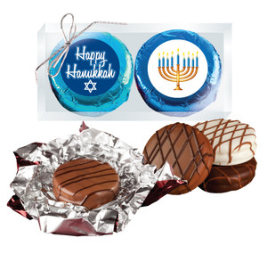 "HANUKKAH ""COOKIE TALK"" 2 Pc CHOCOLATE OREO  BOXED"
