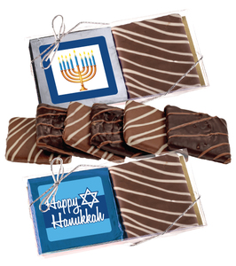 Hanukkah Cookie Talk 2pc Chocolate Graham Box