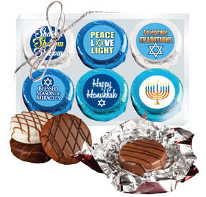 Hanukkah Cookie Talk 6pc Chocolate Oreo Box