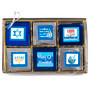 Hanukkah Cookie Talk 12pc Chocolate Grahams
