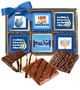 Hanukkah Cookie Talk 12pc Chocolate Graham Box