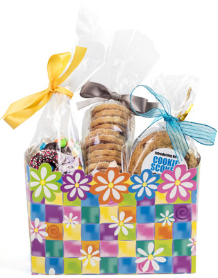 Floral Gift Basket Box of Gourmet Treats