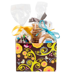 GIFT BASKET BOX OF GOURMET TREATS - Medium- General/ Male