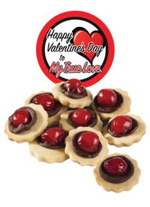 Valentine's Day Chocolate Cherry Butter Cookies - True Love