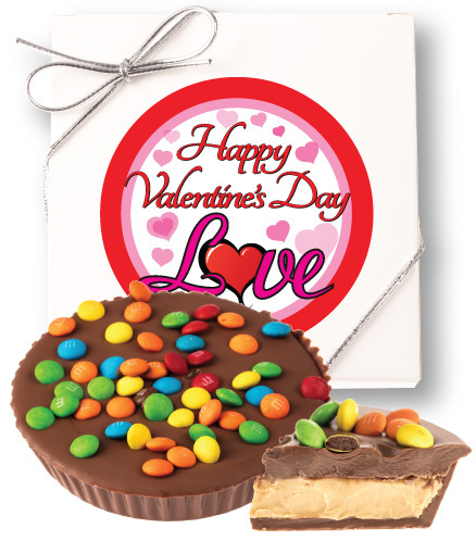 Valentines Day Peanut Butter Chocolate Candy Pie Gift Boxed