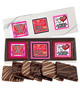 Valentine's Day Cookie Talk 6pc Chocolate Graham Box - Traditional