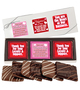 Valentine's Day Cookie Talk 6pc Chocolate Graham Box - Business