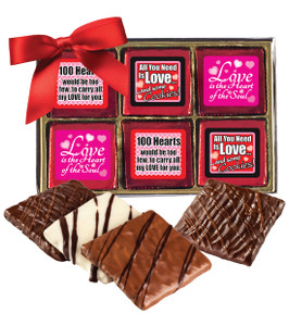 Valentine's Day Cookie Talk 12pc Chocolate Graham Box - Love