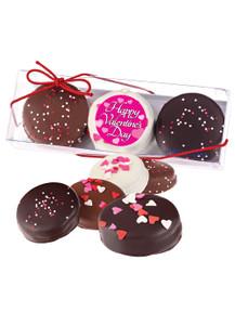 Happy Valentines Day 3pc Decorated Chocolate Oreo