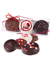 Valentine's Day 3pc Decorated Chocolate Oreo - Romantic