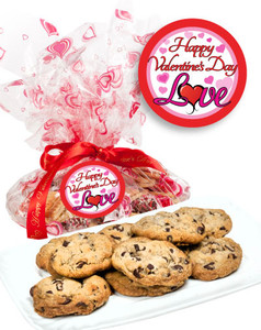 Valentine's Day Chocolate Chip Butter Cookies - Love