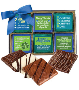 "EMPLOYEE APPRECIATION ""COOKIE TALK"" CHOCOLATE GRAHAM BOX 12 Pc."