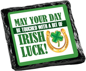 "ST. PATRICKS DAY  ""COOKIE TALK""  CHOCOLATE GRAHAMS W/ MESSAGES"