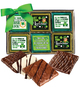 St Patrick's Day Cookie Talk 12pc Chocolate Graham Box