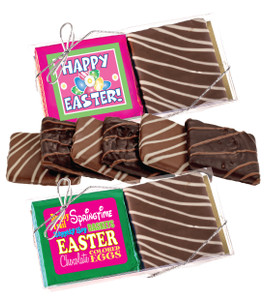 "EASTER/ SPRING ""COOKIE TALK"" CHOCOLATE GRAHAM DUO"