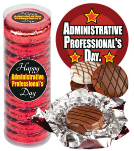 "ADMIN/ OFFICE STAFF  ""COOKIE TALK"" CHOCOLATE OREOS - 9 Pc. CYLINDER"