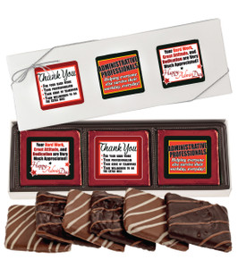 "Admin/ Office Staff ""Cookie Talk"" Chocolate Graham  6 Pc. Box"