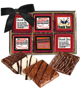 "Admin/ Office Staff ""Cookie Talk"" Chocolate Graham  12 Pc. Box"