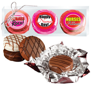 "Nurse Appreciation ""Cookie Talk"" Chocolate Oreo Trio  W/ Messages"