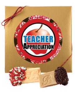 Teacher Appreciation Raspberry Sandwich Butter Cookies
