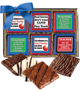 Teacher Appreciation Cookie Talk 12pc Chocolate Graham Box