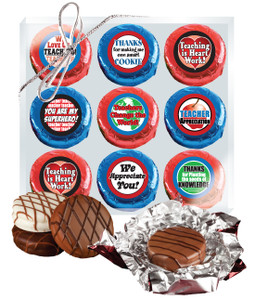 "TEACHER APPRECIATION  ""COOKIE TALK"" CHOCOLATE OREOS 9 Pc BOX"