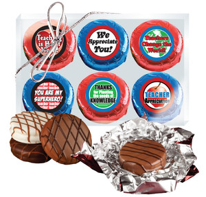 Teacher Appreciation 'Cookie Talk' Chocolate Oreo W/ Messages - 6 Pc  Box