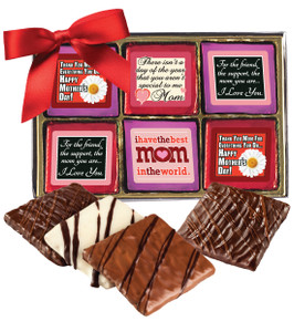 "Mothers Day ""Cookie Talk"" Chocolate Graham Gift Box 12 Pc"