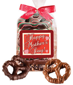 Mother's Day 8pc Gourmet Chocolate Pretzel Bag