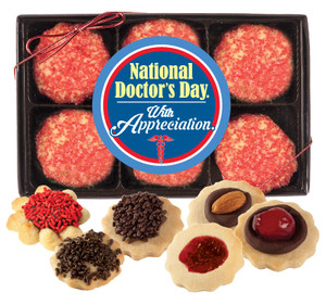 Doctor Appreciation  Butter Cookie Box - 12 Cookies
