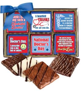 Doctor Appreciation Cookie Talk 12pc Chocolate Graham Box