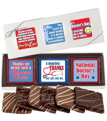 Doctor Appreciation Cookie Talk 6pc Chocolate Graham Box