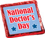 National Doctors Day Chocolate Graham Cookie