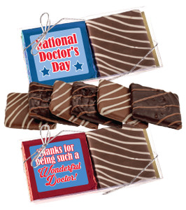 "Doctor Appreciation ""Cookie Talk"" Chocolate Graham Duo"