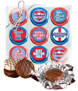 "DOCTOR APPRECIATION  ""COOKIE TALK"" CHOCOLATE OREO 9 Pc BOX"