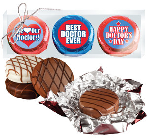 "Doctor Appreciation ""Cookie Talk"" Chocolate Oreo Trio  W/ Messages"