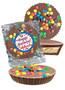 Birthday Peanut Butter Candy Pie - M&M