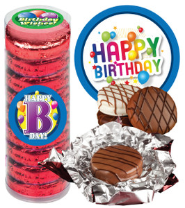 "BIRTHDAY ""COOKIE TALK"" CHOCOLATE OREOS - 9 Pc.CYLINDER"