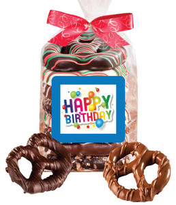 Birthday Chocolate Pretzel Bag