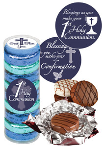 COMMUNION/ CONFIRMATION - CHOCOLATE OREOS - 9 Pc.CYLINDER