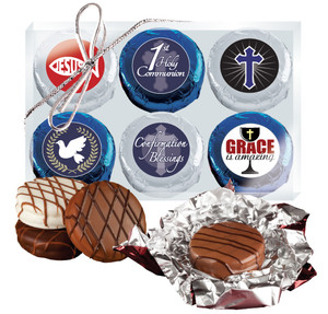 Communion/Confirmation Cookie Talk 6pc Chocolate Oreo Box