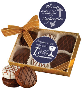 Communion/ Confirmation -  Chocolate Drizzled Oreo 6 Pk.