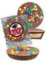Graduation Peanut Butter Candy Pie - M&M