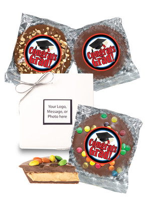 Graduation Peanut Butter Candy Pie