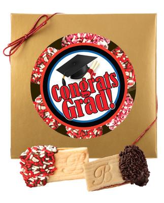 Graduation Raspberry Filled Butter Cookies