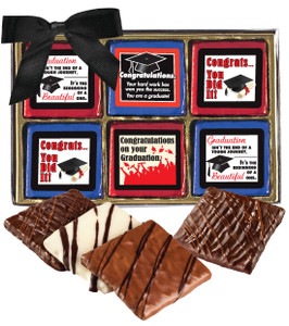"Graduation ""Cookie Talk"" Chocolate Graham 12 Pc. Box"