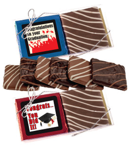 "Graduation ""Cookie Talk"" Chocolate Graham Duo"