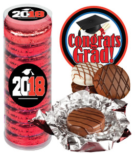 "GRADUATION ""COOKIE TALK"" CHOCOLATE OREOS  9 PC.CYLINDER"