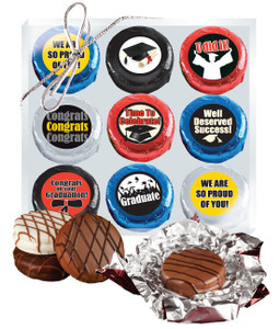 "Graduation ""Cookie Talk"" Chocolate Oreo 9 Pc Box"
